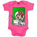 Body bebé La Princesa Mononoke Hime Kawaii - Rosa, 6-12 meses