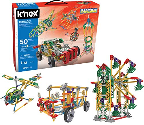 K'NEX Imagine Power and Play Motorised Building Set for Ages 7 and Up, Construction Educational Toy, 529 Pieces