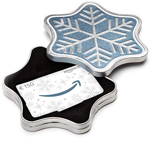 Amazon.de Geschenkkarte in Geschenkbox - 150 EUR (Schneeflocke)