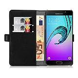 Cover Galaxy A5 (2016), JAMMYLIZARD [Luxury Wallet] Custodia a Libro Portafogli in Pelle per Samsung Galaxy A510, NERO