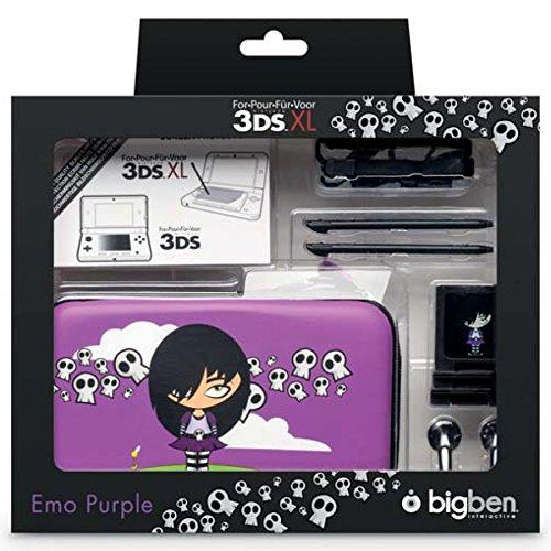 Bigben Zubehör-Set Pack Emo Hard-Case Tasche Spiele-Hülle für Nintendo New 3DS XL 3DS XL