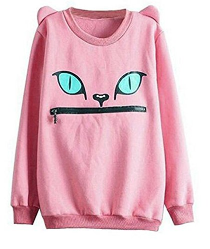 hqclothingbox-women-zip-mouth-smile-shoulder-3d-ear-cat-jumper-sweatshirt-top