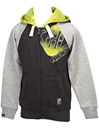 Freegun - Lo08 noir/grc fzcap sw jr - Vestes sweats zippés capuche