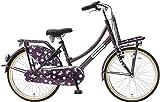 22 Zoll Mädchen Holland Fahrrad 3 Gang Popal Daily Dutch Basic+ TR22N3, Farbe: Lila
