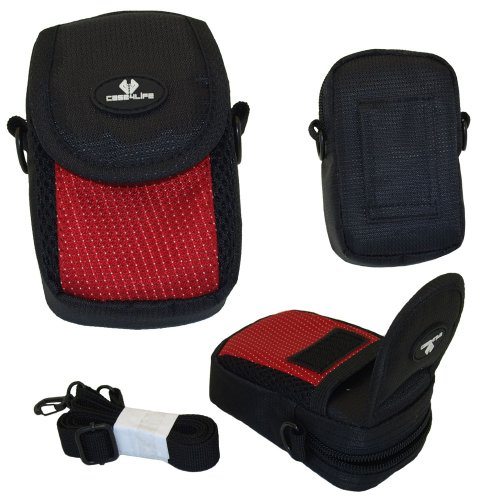 case4life-red-black-nylon-soft-shockpoof-splashproof-digital-camera-case-bag-for-sony-cyber-shot-dsc
