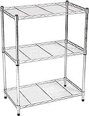 AmazonBasics 3-Shelf Shelving Unit - Chrome