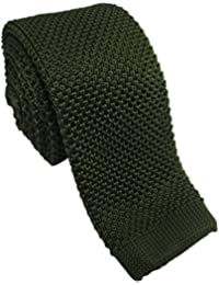 Olive Green Silk Knitted Tie