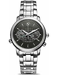 Original BMW Mujer Reloj De Pulsera Reloj de acero inoxidable con esfera negra
