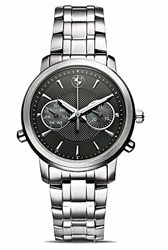 BMW Original Damen Armbanduhr Uhr Edelstahl mit schwarzem Ziffernblatt - 2016/2018