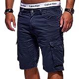 MT Styles Herren Cargo-Shorts Bermuda Kurze Hose Chino X-6718 [Dunkelblau, W29]