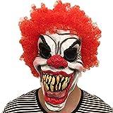 ZAMAC Halloween Maske Horror Herren Latex Gruselige Blutige Maskerade Neuheit Erwachsene Dämon Masken Perfekt für Fasching Karneval Kostüm Weihnachten Cosplay Kostüme Für Männer und Frauen