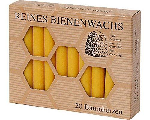 200 Stück Bienenwachs Baumkerzen 100/13 mm Christbaumkerzen