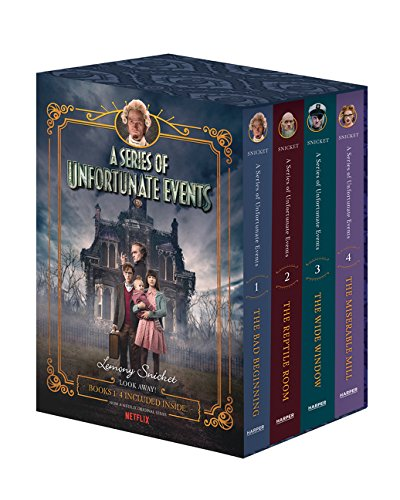 A Series of Unfortunate Events #1-4 Netflix Tie-In Box Set por Lemony Snicket
