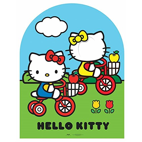 Bebegavroche Passe tête géante en Carton Hello Kitty Jardin