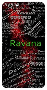 Ravana (The Raksasa King Of Lanka) Name & Sign Printed All over customize & Personalized!! Protective back cover for your Smart Phone : Moto G-4-PLAY