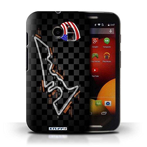 Kobalt® Imprimé Etui / Coque pour Motorola Moto E (2014) / Singapour conception / Série 2014 F1 Piste USA/Austin