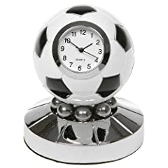 Idea Regalo - OROLOGIO NUOVA MINI CALCIO NOVITÀ CLOCK (CALCIATORI GIFT) BLACK & WHITE Football Clock