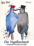 Postkarten-Set Die Vogelhochzeit: 12 Postkarten mit Liedtext und Noten
