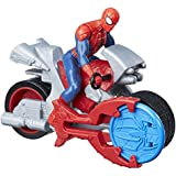 Marvel Spider-Man Blast 'n Go Spiderman with Cycle  (Multi Color)