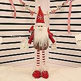 TAOtTAO Weihnachtsdekoration Puppe Einziehbare Weihnachtsweihnachtsmann-Schneemann-Rotwild-Puppen, die Figürchen-Baum Stehen (E)