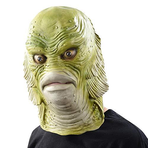 DWcamellia Masken für Erwachsene unheimlich Latexmaske, Fischmasken, Black Lagoon Kreatur, Cosplay, für Merman - Unter Dem Meer Kreatur Kostüm
