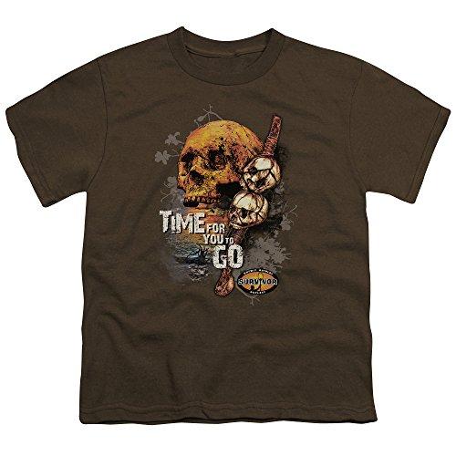 2Bhip Cbs tv series zeit großes T-shirt zu gehen für Jungen X-Grande (Jugend) Braun (T-shirt Zeit Jugend)