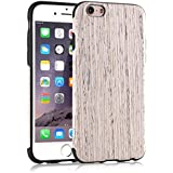 iPhone 6S Funda, Tendlin Madera Natural Suave TPU Delgado Funda para iPhone 6 y iPhone 6s (Nordic madera de nogal)