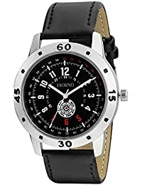 Frosino FRAC101848 Black Strap Silver Case Analog Watch with Free Shipping for Boys and Men