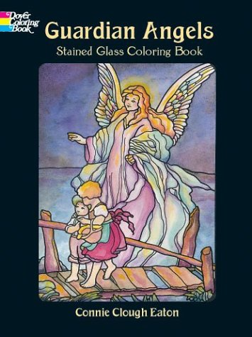 Guardian Angels: Stained Glass Coloring Book