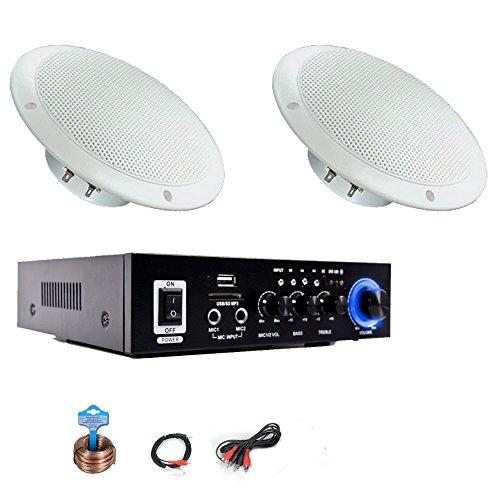 etc-shop Wetterfeste Musikanlage Außenlautsprecher Bluetooth Verstärker USB SD MP3 Gastro-1