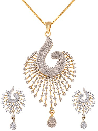 swasti-peacock-shaped-zircon-cz-fashion-jewelry-set-pendant-earrings-with-chain-25-inches