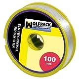Wolfpack 16010355 Nylonschnur, transparent, 0,7mm, Rolle mit 100m