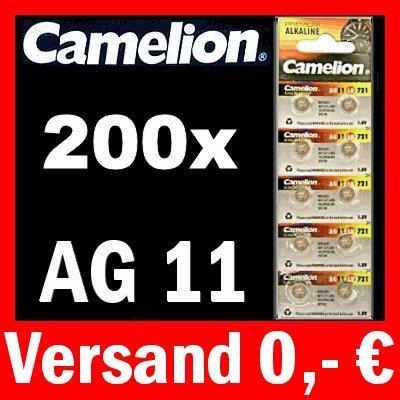 200 x PILES bOUTON aG11 lR58 gP62A cAMELION 362 sR721W