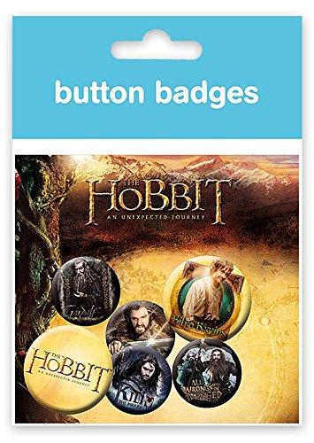 The Hobbit Buttonset Gandalf & die Zwerge 4 Button