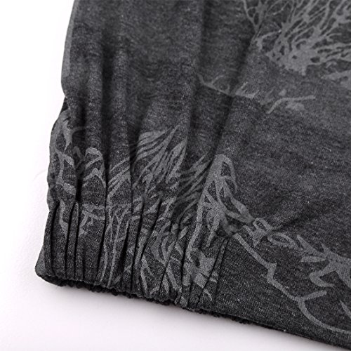 DJT Tee-Shirt longue Blouse Pull-over Sweatshirt Imprime Veste Femme #1-Gris profonde