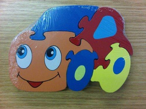 Puzzle en Bois Forme de Voiture pour Enfant 12 mois +