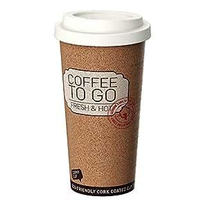 Bicchiere per caffè termico, riutilizzabile da viaggio e per lavoro - 500ml per caffé/ te con rivestimento antibatterio e antiscivolo.