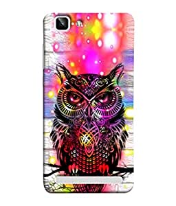 PrintVisa Owl Prowl 3D Hard Polycarbonate Designer Back Case Cover for Vivo X5Max :: Vivo X5 Max