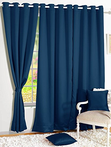 check MRP of door curtains blue Story@Home