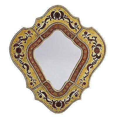 DUSX Renaissance Venetian Patterned Mirror, Gold - cheap UK light store.