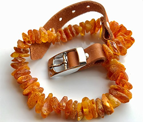 hand-made-totally-natural-raw-baltic-amber-flea-and-tick-collar-with-adjustable-light-brown-leather-