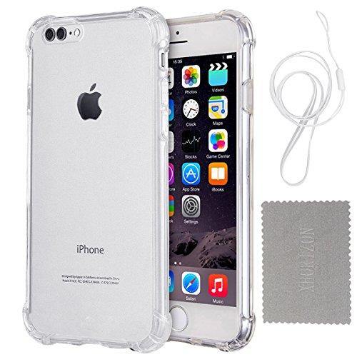 """Hülle für iPhone 7/8 Plus, xhorizon Transparente Handyhülle mit Hartplastik und weicher TPU Gel zum Schutz vor Stößen für iPhone 7 Plus/ iPhone 8 Plus [5.5""""] #1"""