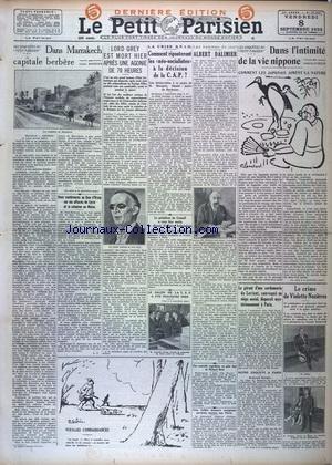 PETIT PARISIEN DERNIERE EDITION DE 5 HEURES (LE) [No 20646] du 08/09/1933