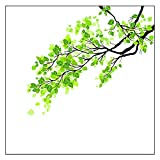 GGG Abnehmbar Grüne Blätter Zweig Fensterbild Mattiert Wandaufkleber