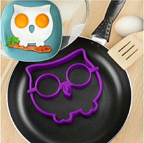 Denshine desayuno silicona huevo frito molde de búho Side Up huevo Anillo Shaper divertido cocinar herramienta