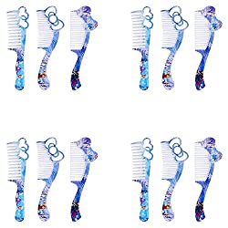 Aarvi Frozen Character Stylish Hair Comb (Combo of 12 Pack)