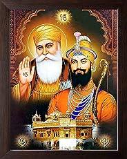 Art n Store: Guru Nanak Dev ji with Guru Gobind Singh ji and Golden Temple HD Printed Religious & Decor Pi