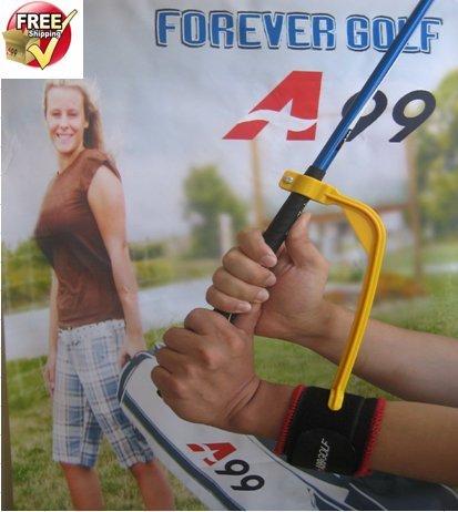 A99Winkel King Upgrade Golf Training Aids Swing Trainer Guide Praxis Marke + ein Paar Mehrzweck Sport Handgelenkbandage -