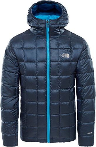 THE NORTH FACE Mens Kabru Hooded Down Jacket, XXL, urban Navy H2G