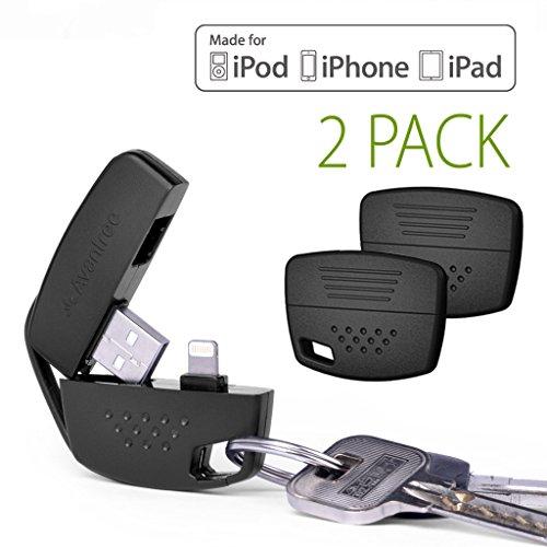 [Apple MFi certificado] Avantree Práctico Llavero Apple, Llavero Lightning Cable Corto para una Rápida Sincronización de Datos y Carga, para iPhone 8 / X / 7, 6S, 6, PLUS, 5s, 5, 5c, iPad mini, iPod Nano 7, iPod touch 5, iPad 4, y todas las versiones iOS5